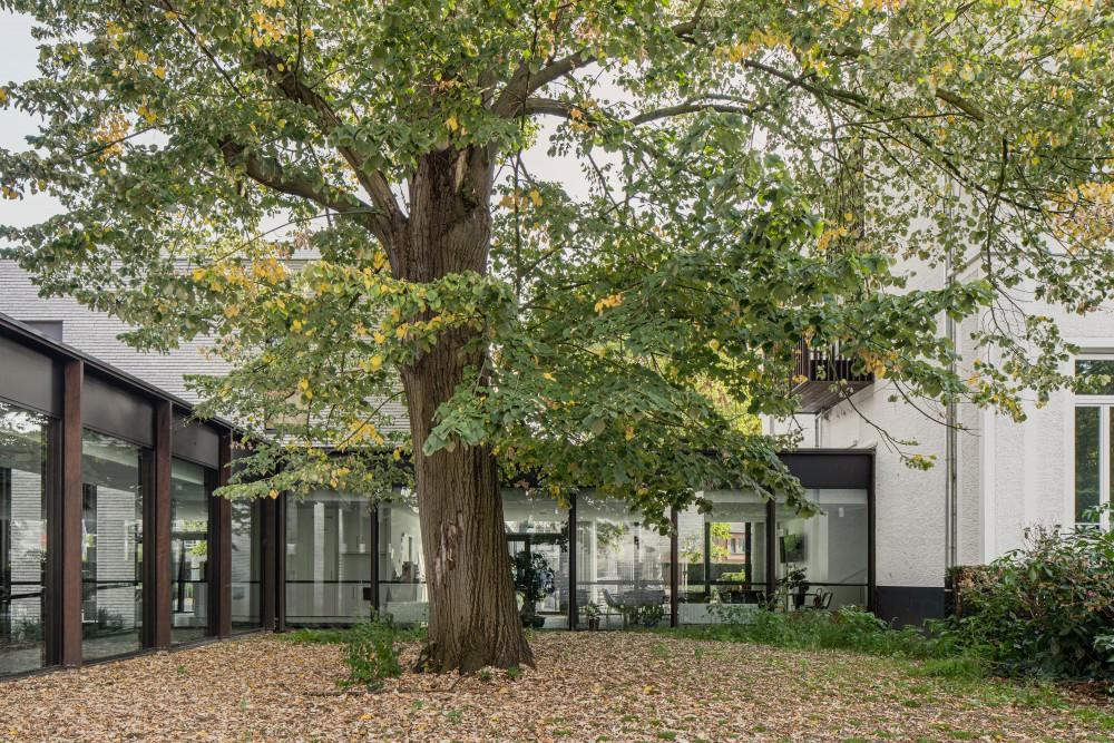 Abscis Architecten - er werd gebouwd omheen de oude bomen - fotografie Jeroen Verrecht