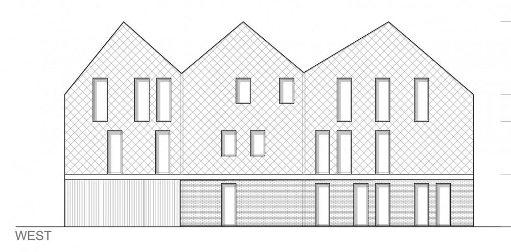 Abscis Architecten - detail woningen - gevel west