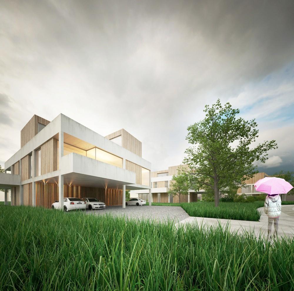 Abscis Architecten - urban villa en collectief groen - visualisatie Abscis Architecten