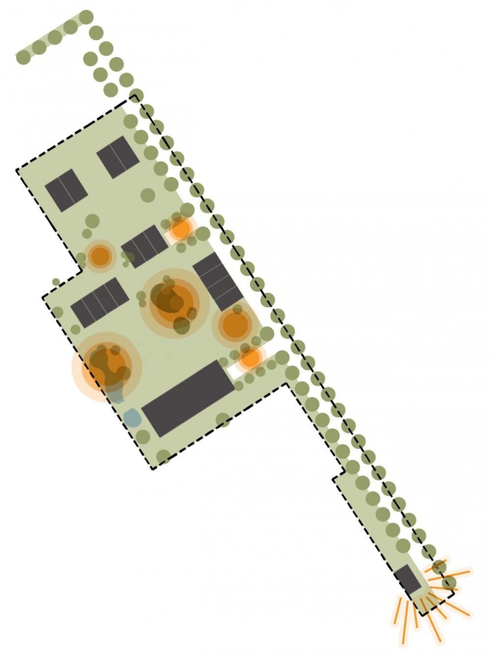 Abscis Architecten - schema groenstructuur en beleving
