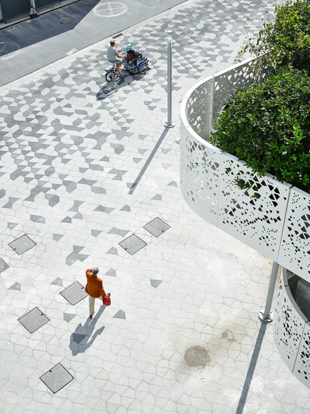 Abscis Architecten - Op maat ontworpen pleintegels – fotografie Dennis De Smet