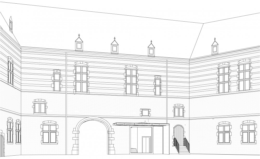 Abscis Architecten - gevelbeeld binnenplein