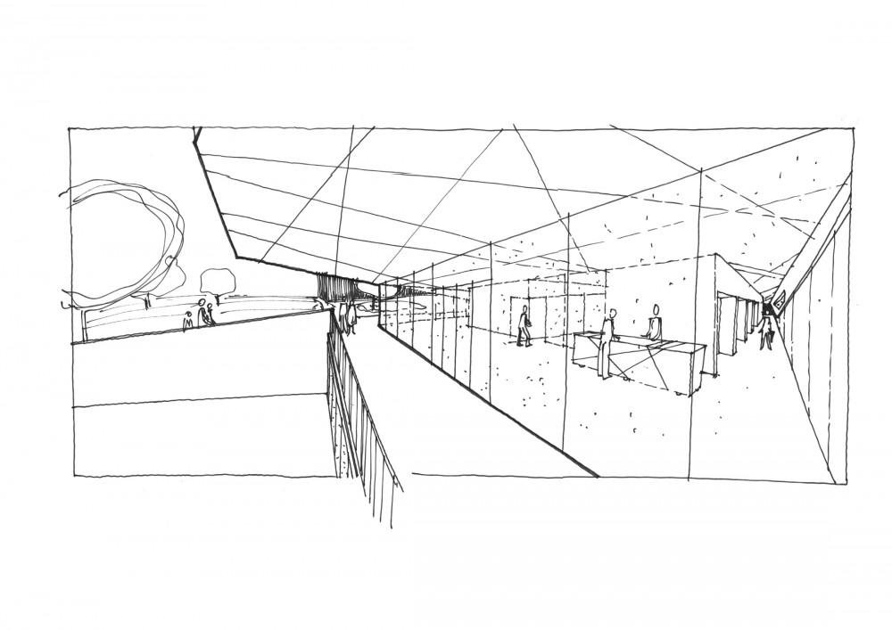 Abscis Architecten - Zicht vanonder uitkraging