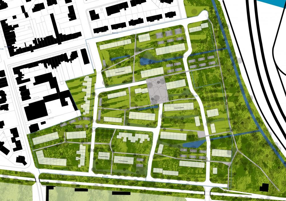 Abscis Architecten - conceptschema blauw-groen netwerk