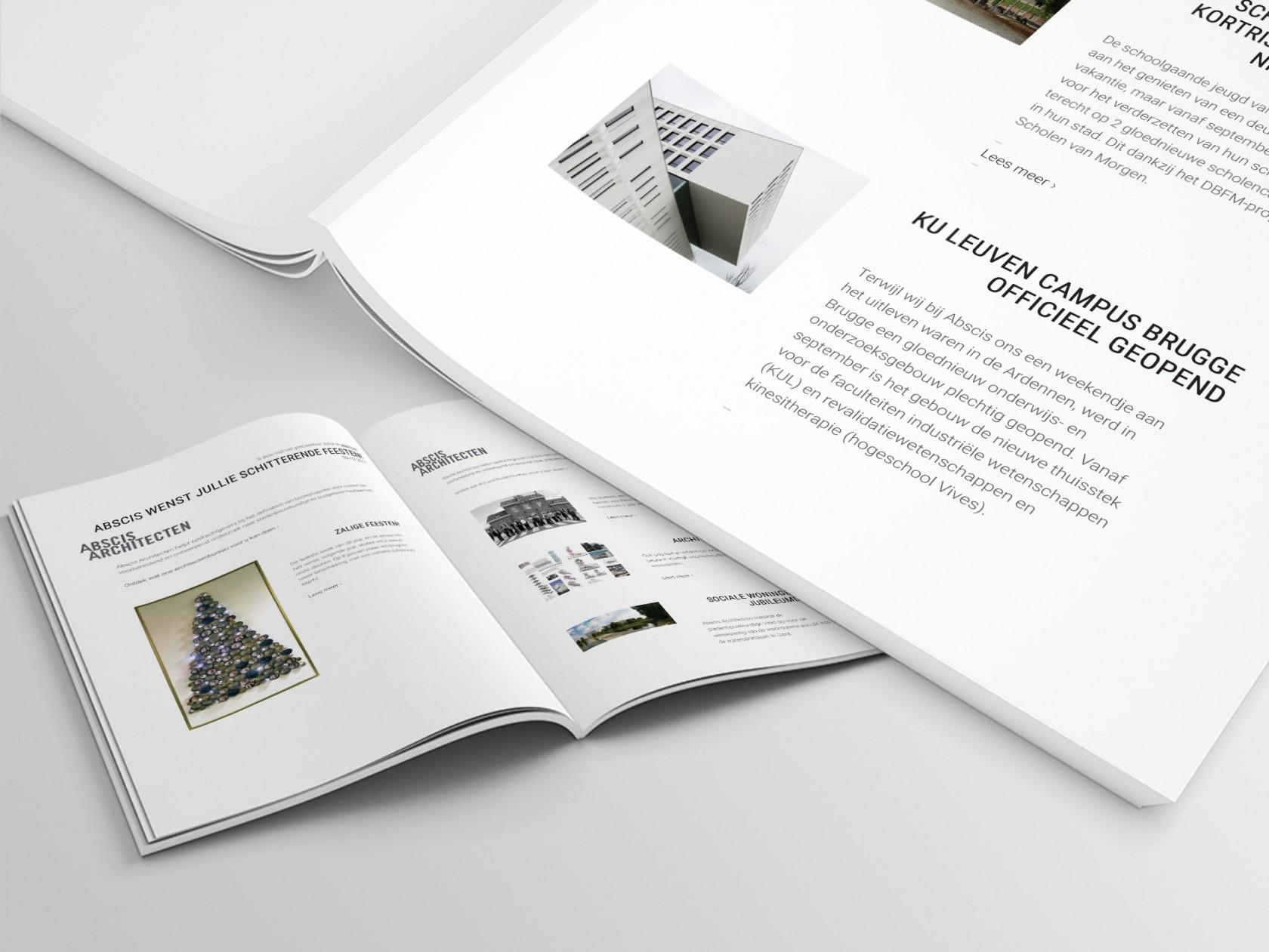 Abscis Architecten - Wilt u onze nieuwsbrief ontvangen?