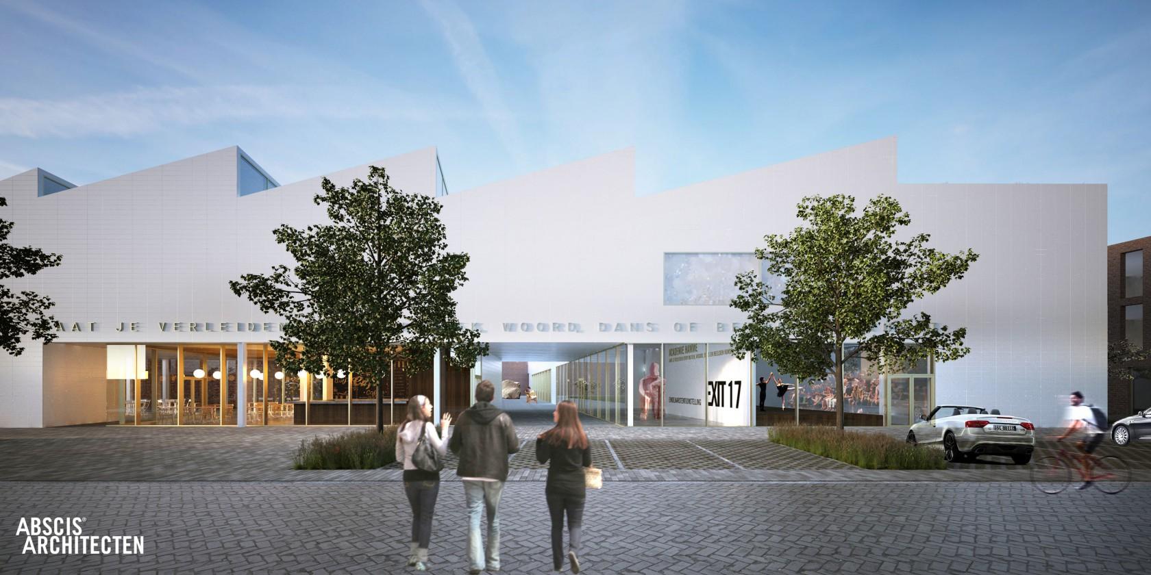 Abscis Architecten - Zo moet de vernieuwde academie eruit zien. De binnenkoer en het marktplein lopen over in elkaar.
