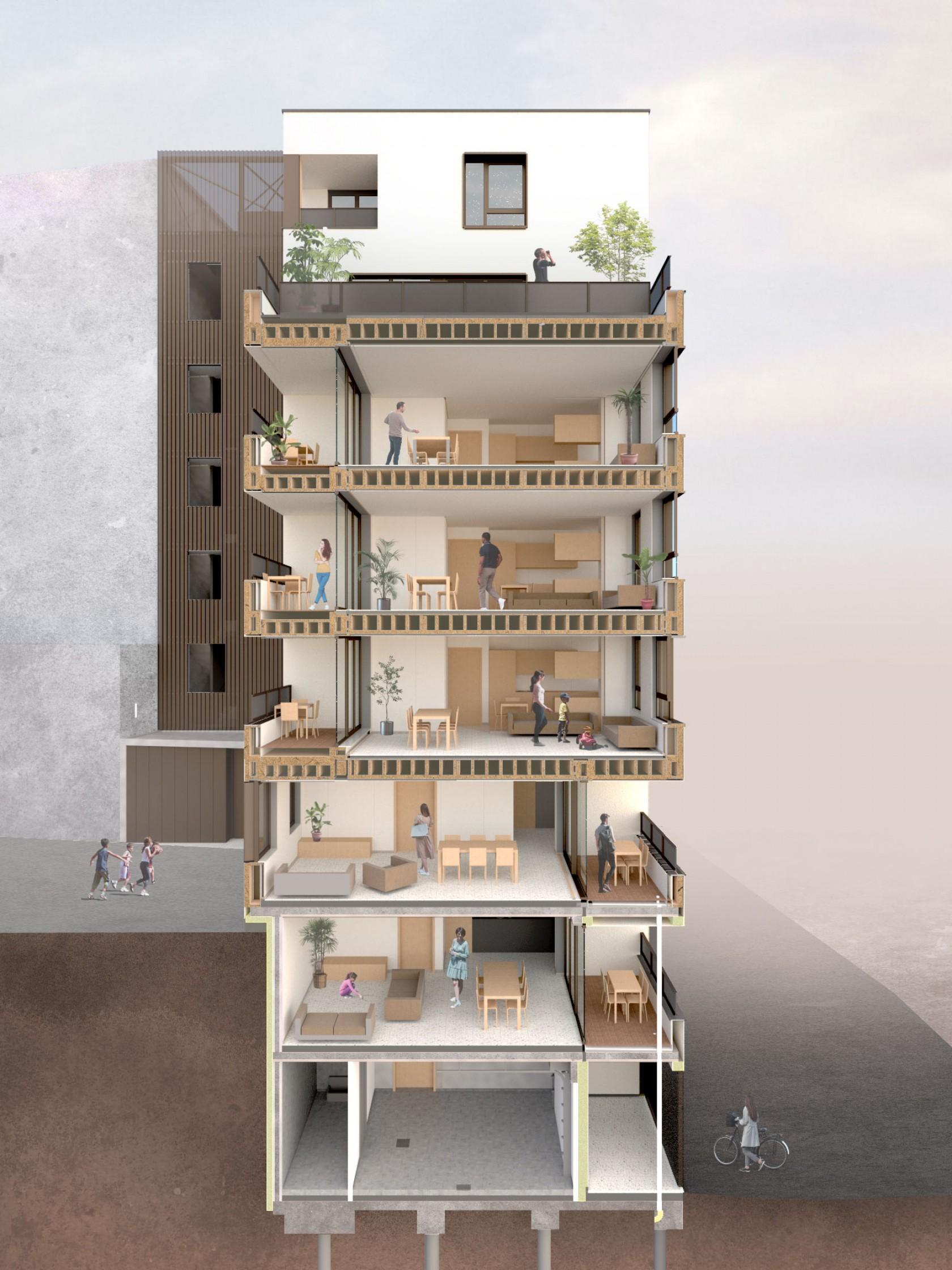 Abscis Architecten - Menslievendheidsstraat - visualisatie Abscis Architecten