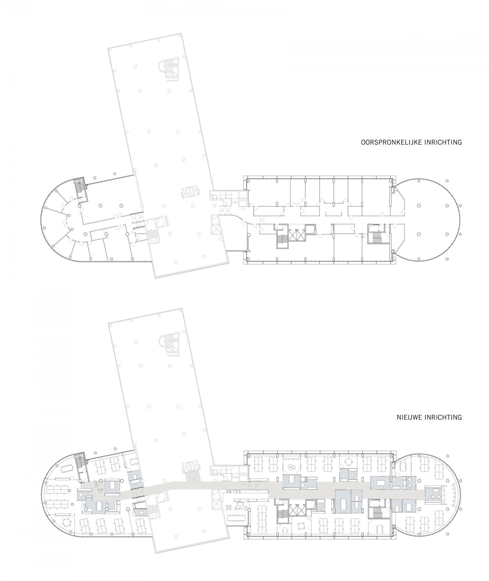 Abscis Architecten - Grondplan derde verdieping - Abscis Architecten