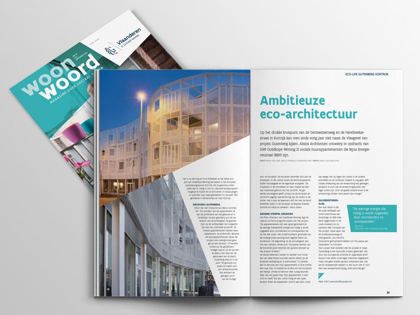 Abscis Architecten - Woonwoord - Ambitieuze eco-architectuur