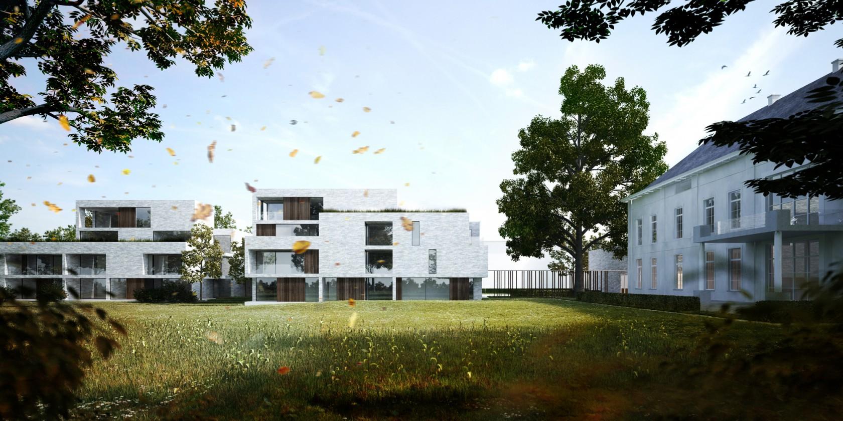 Abscis Architecten - De parktuin als collectieve buitenruimte – visualisatie Abscis Architecten