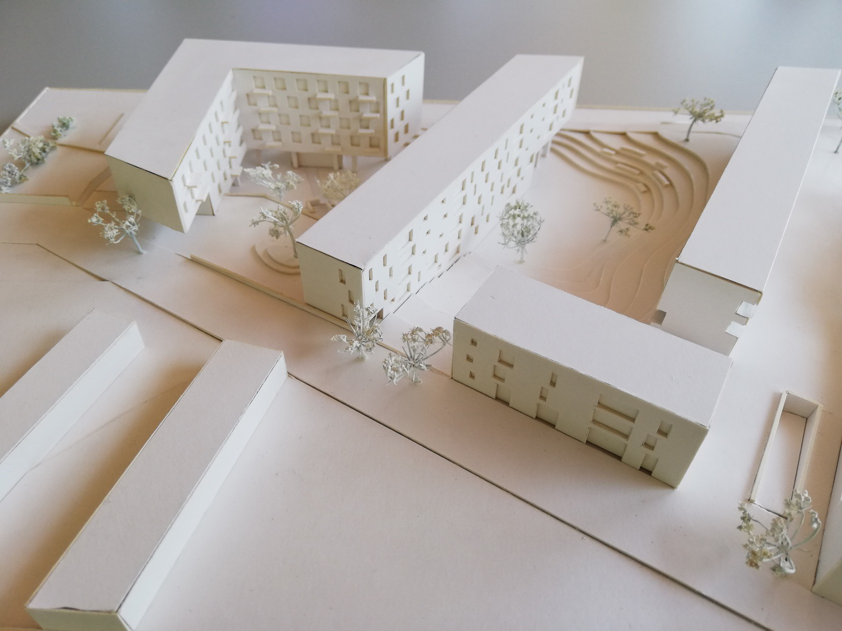 Abscis Architecten - maquette site Klein Rijsel