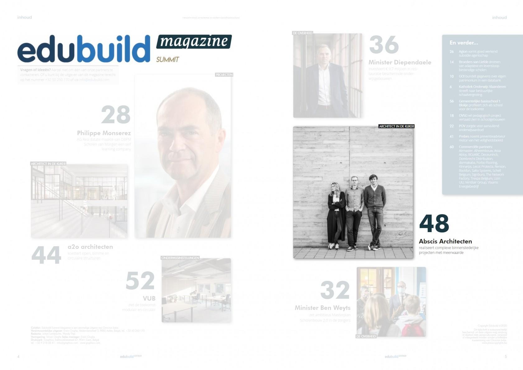 Abscis Architecten - EduBuild Summit Magazine - index
