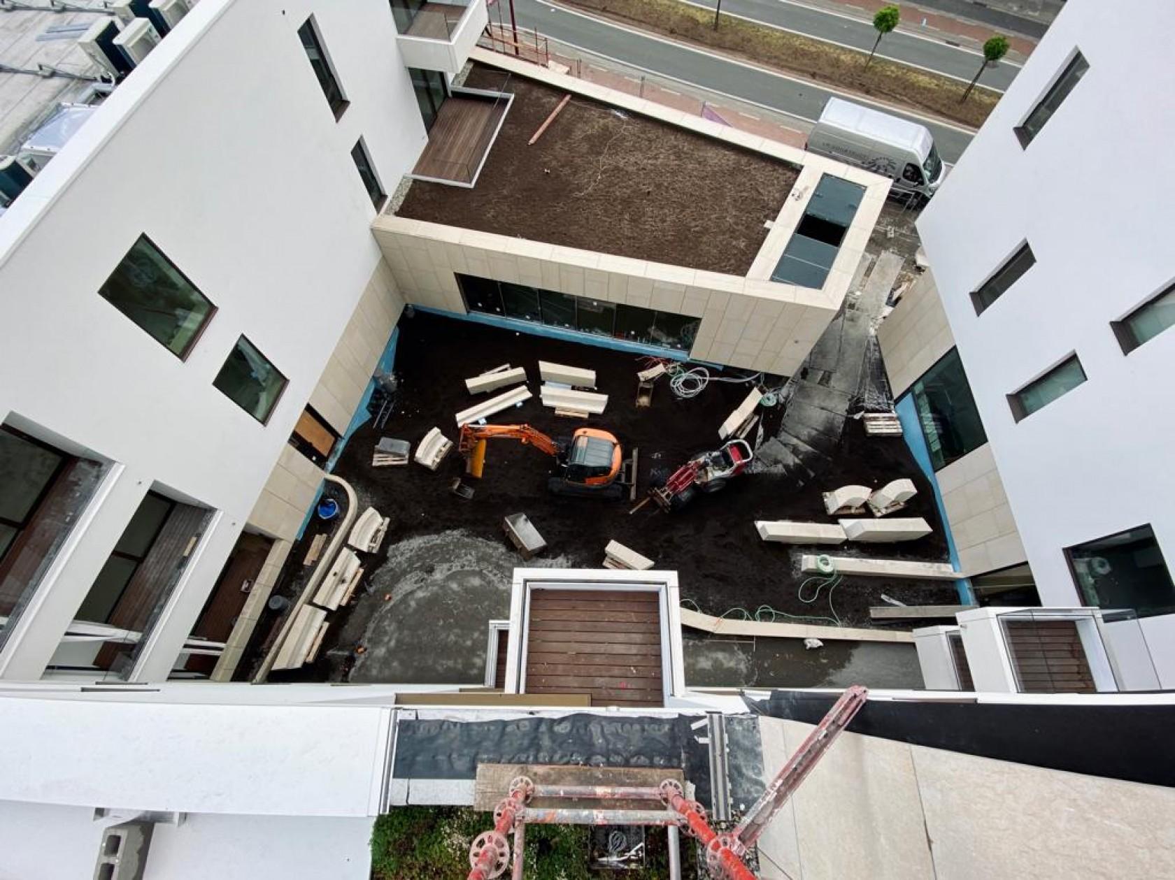 Abscis Architecten - werf Kongoplein Deinze - bovenaanzicht