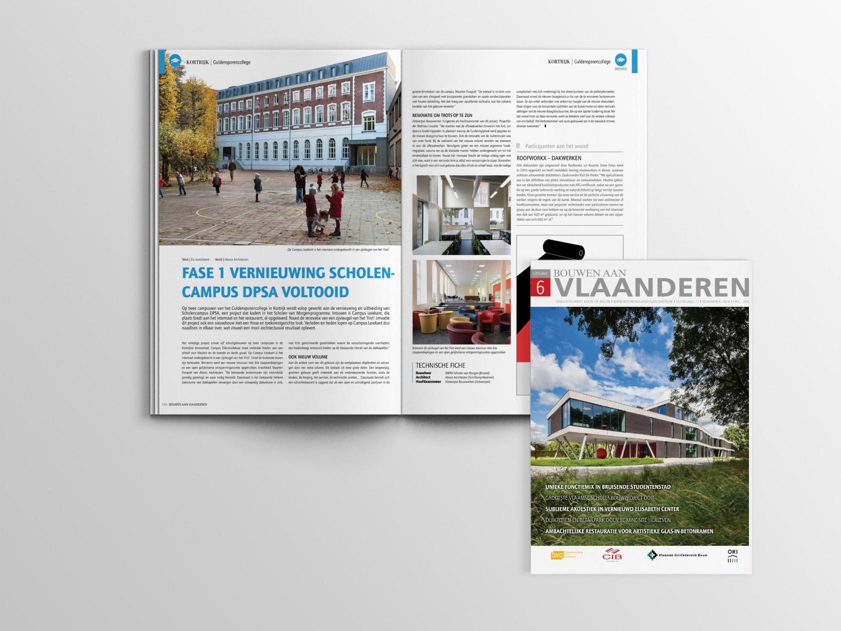 Abscis Architecten - Bouwen aan Vlaanderen - Fase 1 vernieuwing scholencampus DPSA voltooid