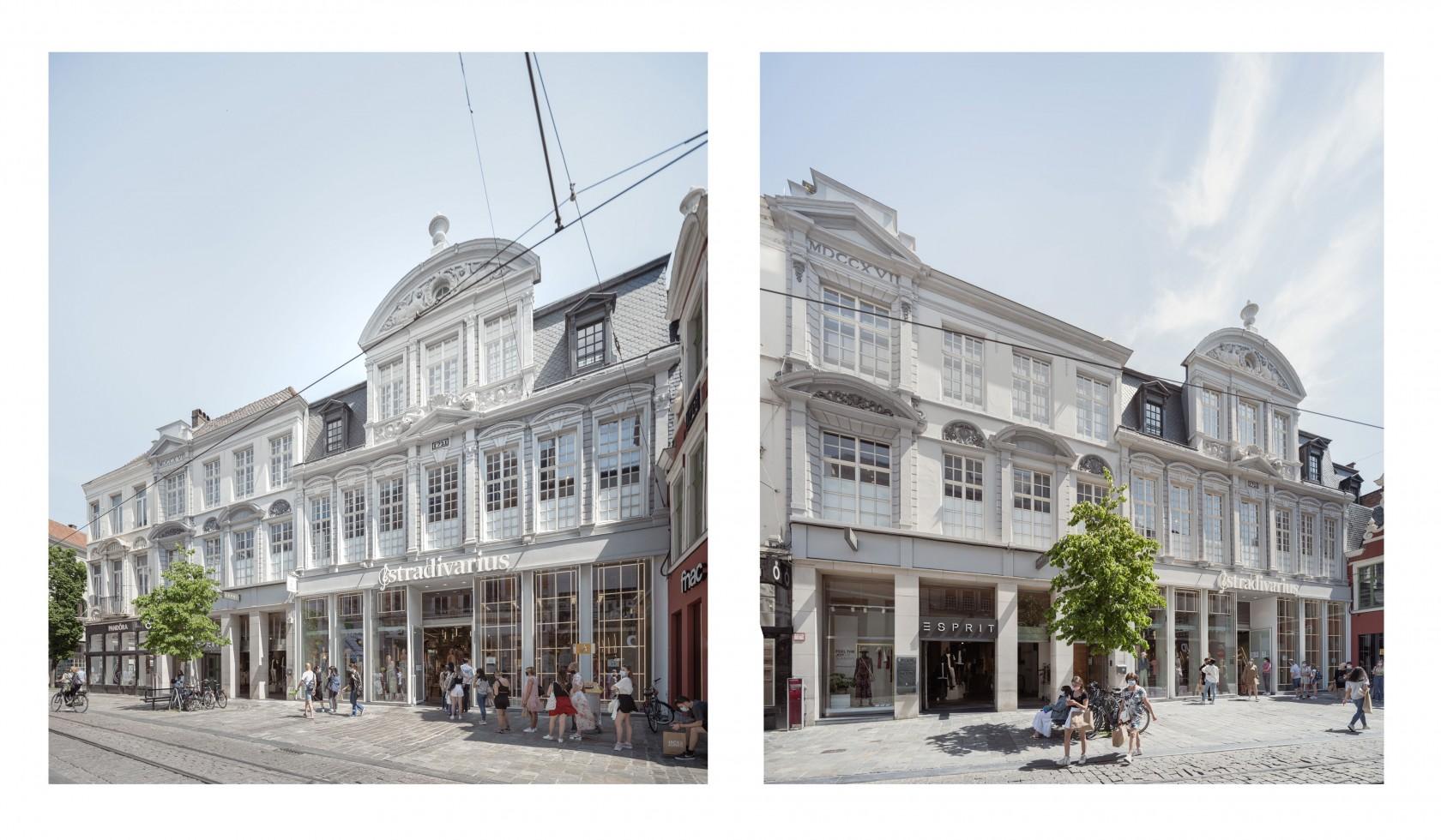 Abscis Architecten - gerestaureerde gevels Veldstraat - foto Jeroen Verrecht
