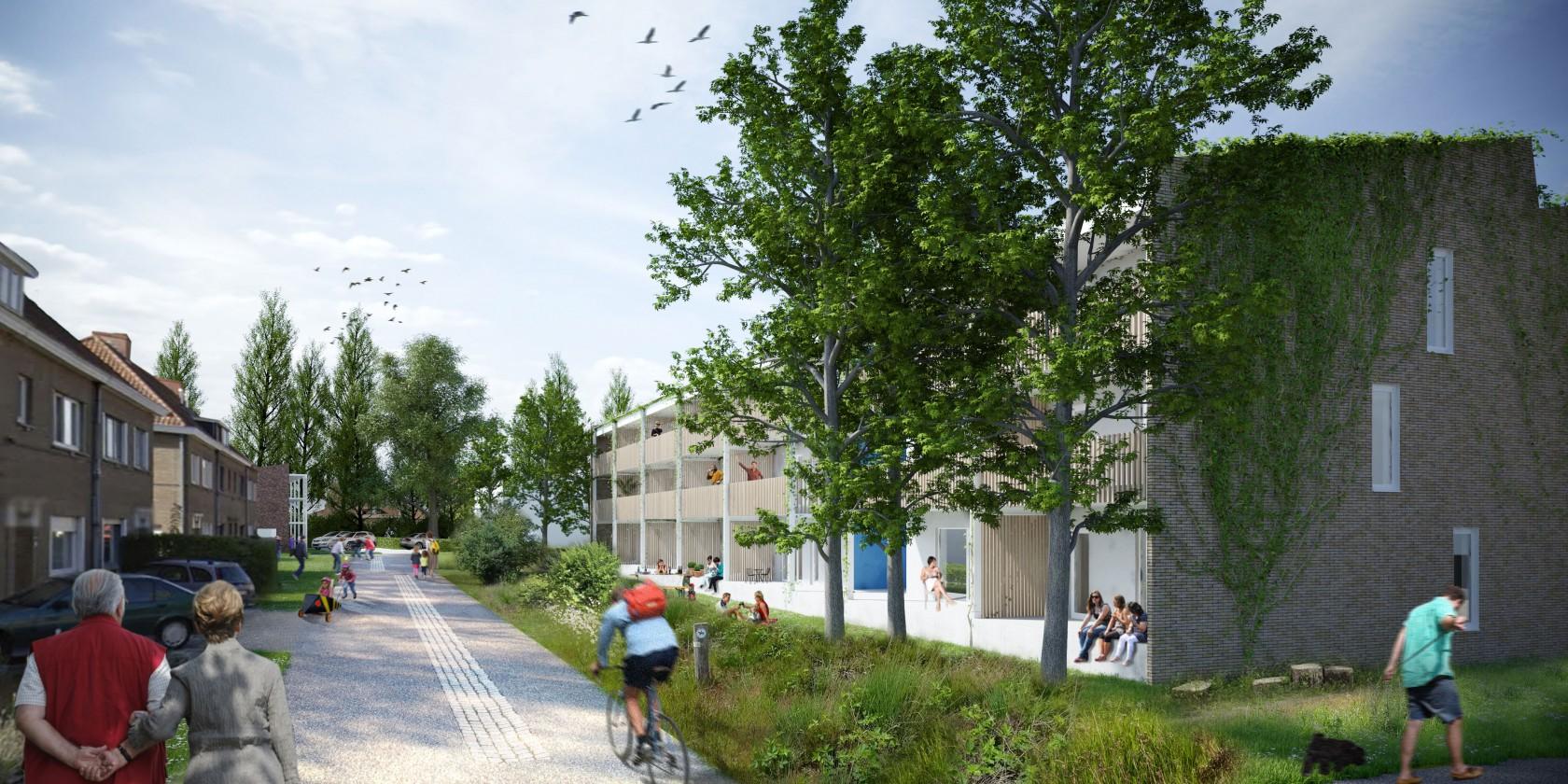 Abscis Architecten - een groene wijk - Acacialaan - visualisatie Abscis Architecten