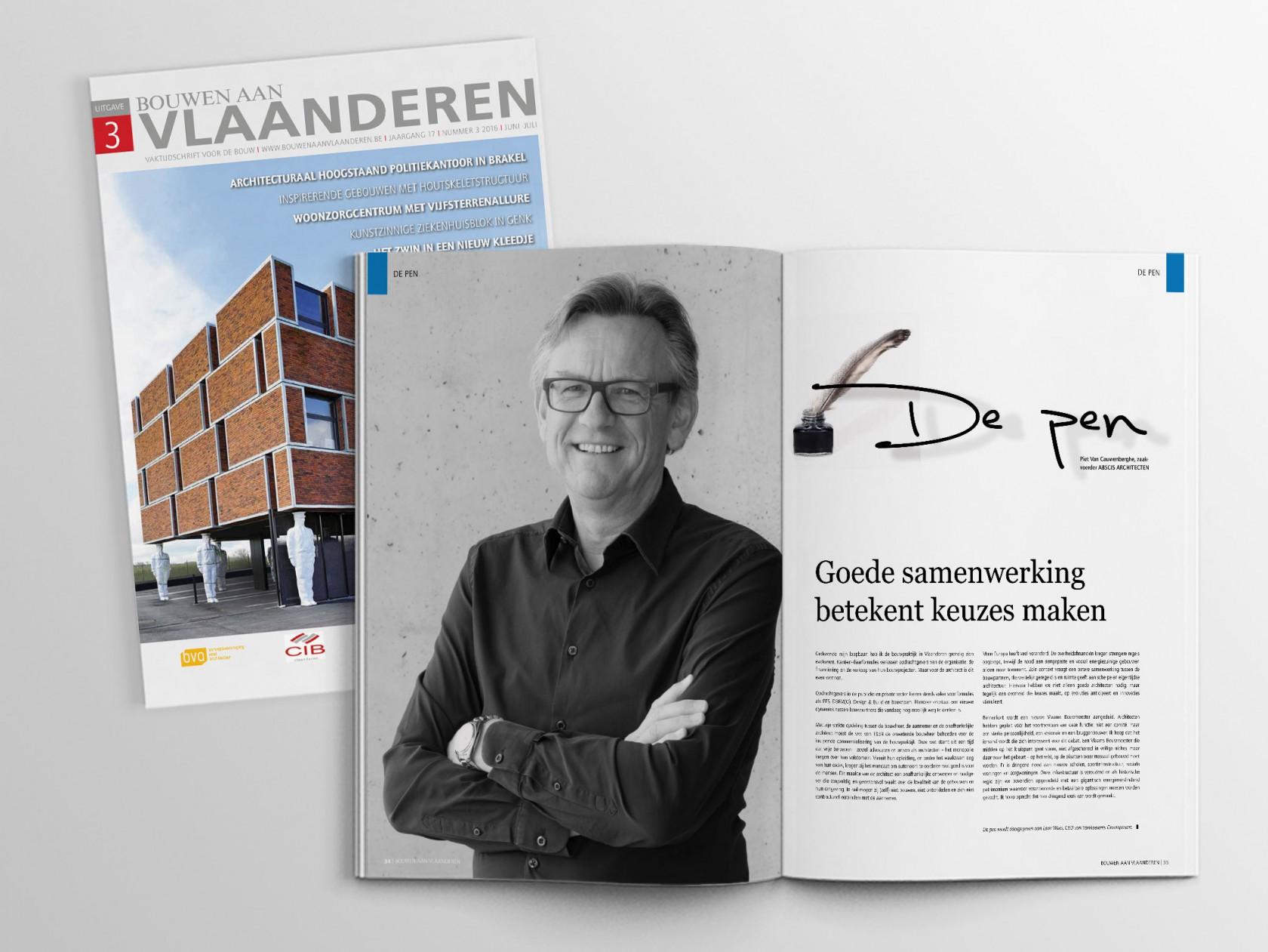 Abscis Architecten - Bouwen aan Vlaanderen - De Pen door Piet Van Cauwenberghe