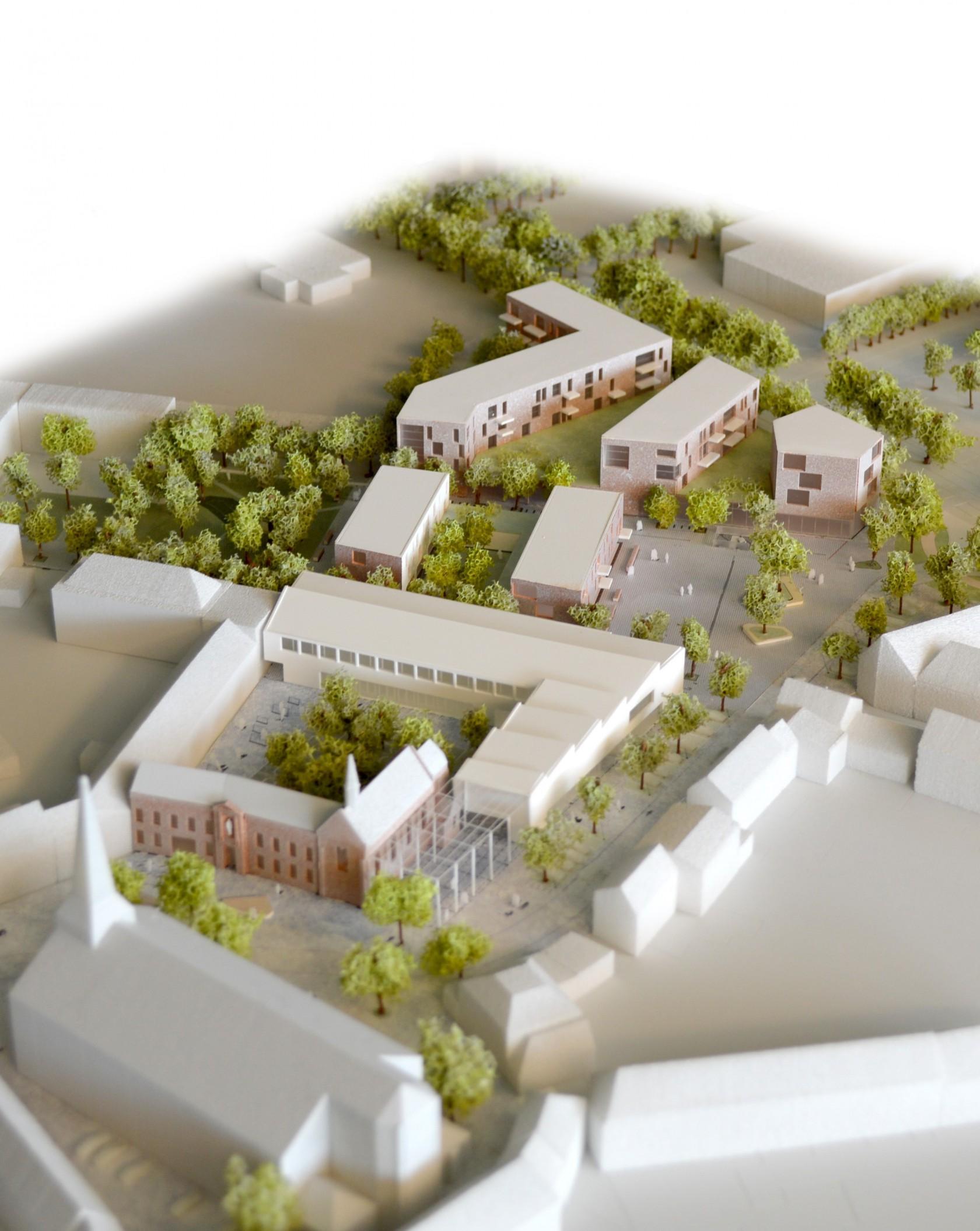 Abscis Architecten - maquette Hart van Hamme - iMake
