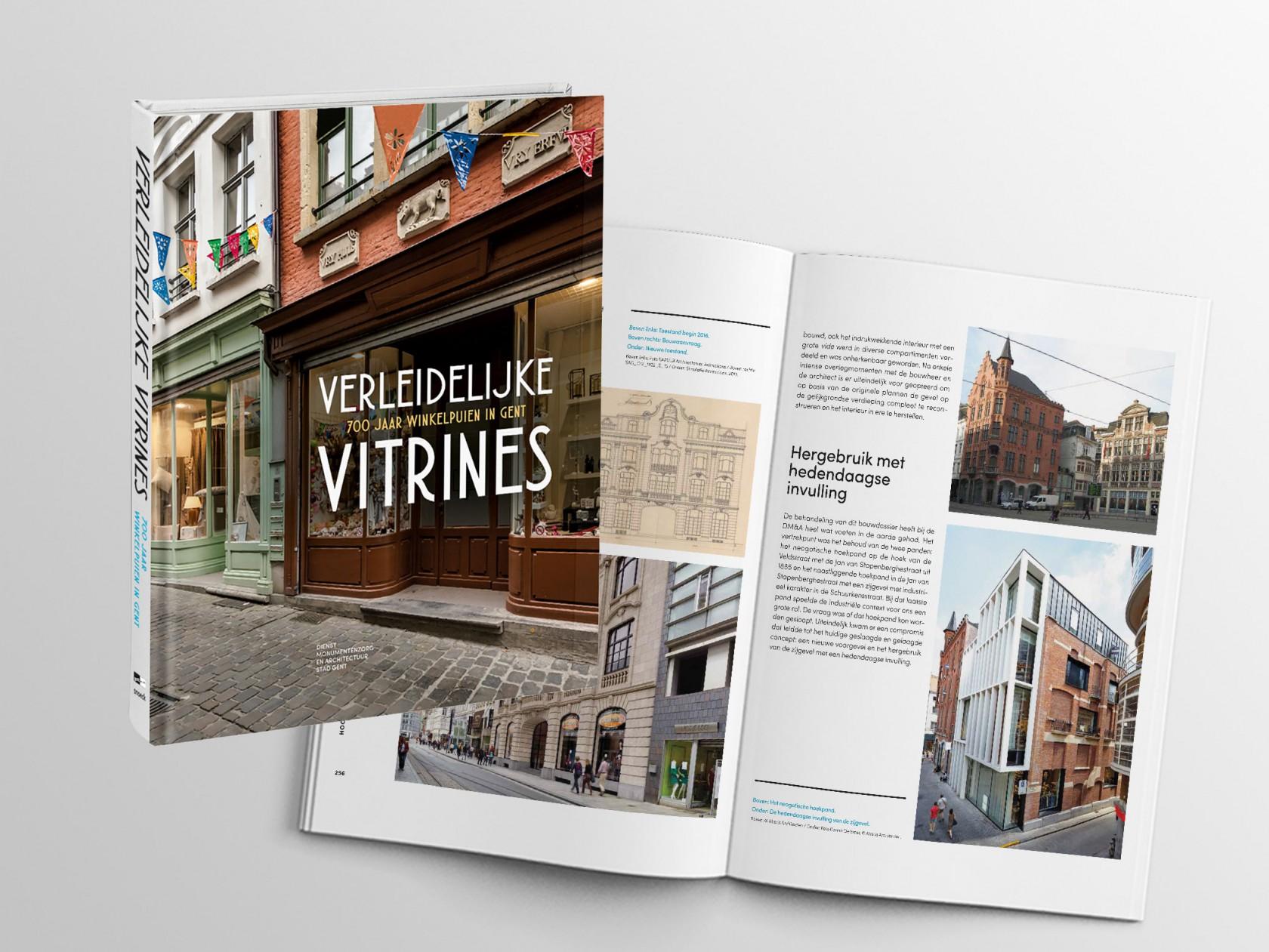 Abscis Architecten - Verleidelijke vitrines - publicatie project Schuurkensstraat