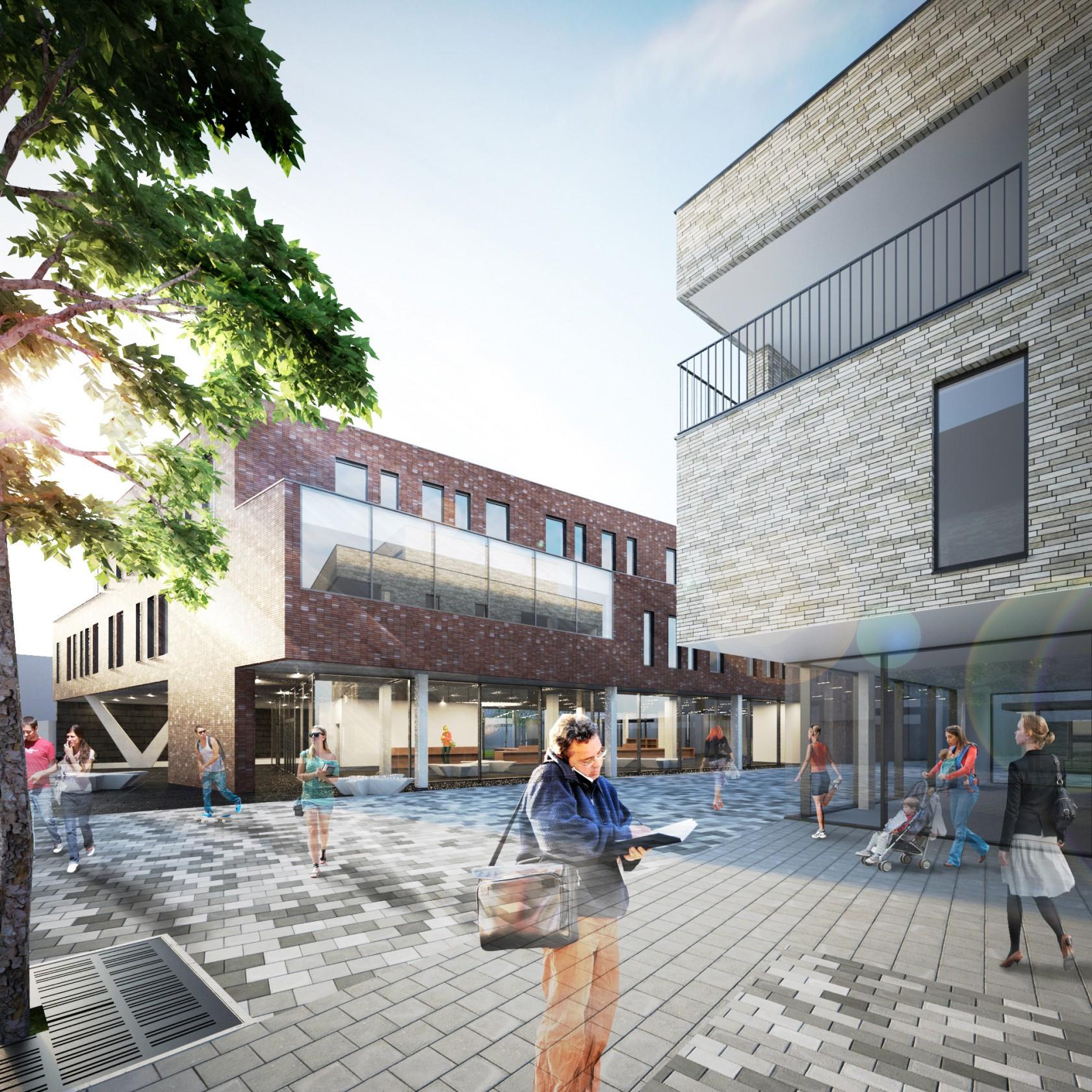 Abscis Architecten - Nieuw knooppunt Nieuwstraat - Peperholleken – visualisatie Abscis Architecten