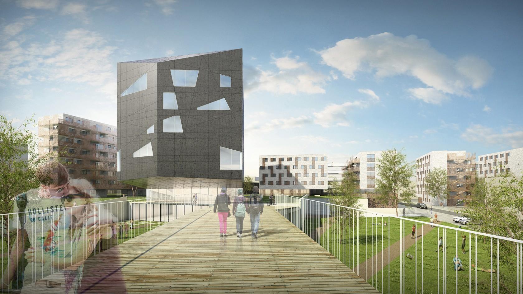Abscis Architecten - Herkenningspunt van de Campus – visualisatie Abscis Architecten