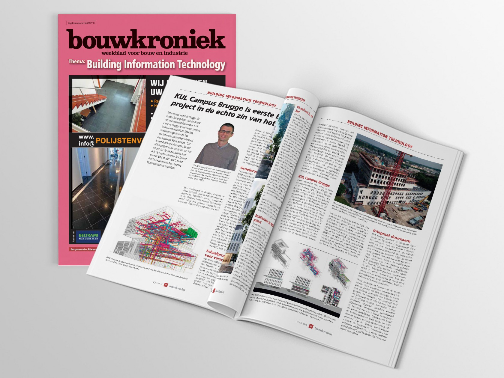 Abscis Architecten - Bouwkroniek - KUL Campus Brugge is eerste BIMproject in de echte zin van het woord