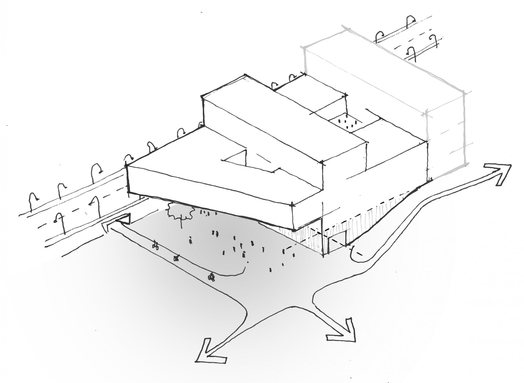 Abscis Architecten - schetsontwerp (c) Abscis Architecten