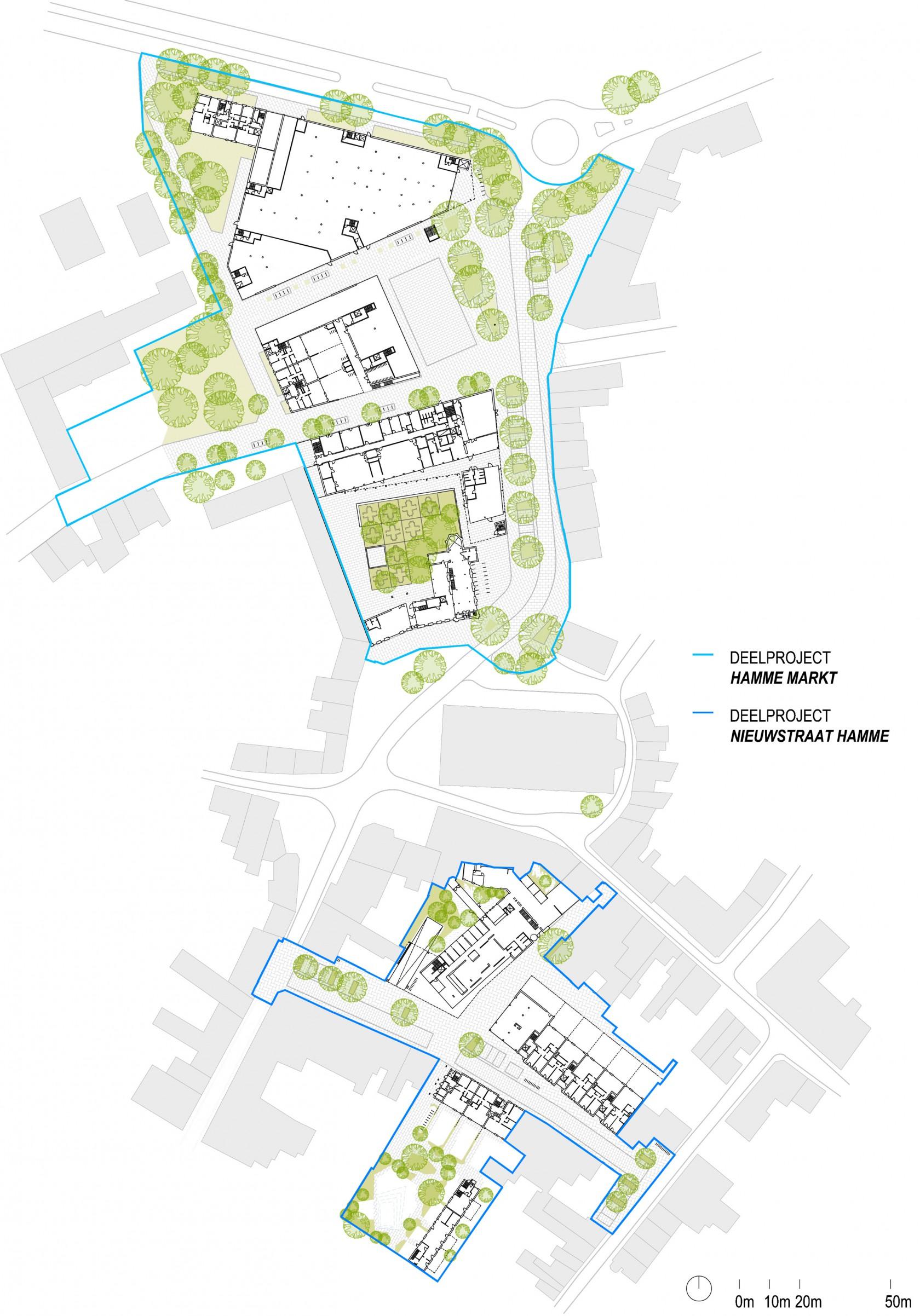 Abscis Architecten - inplanting deelprojecten Hamme 2020
