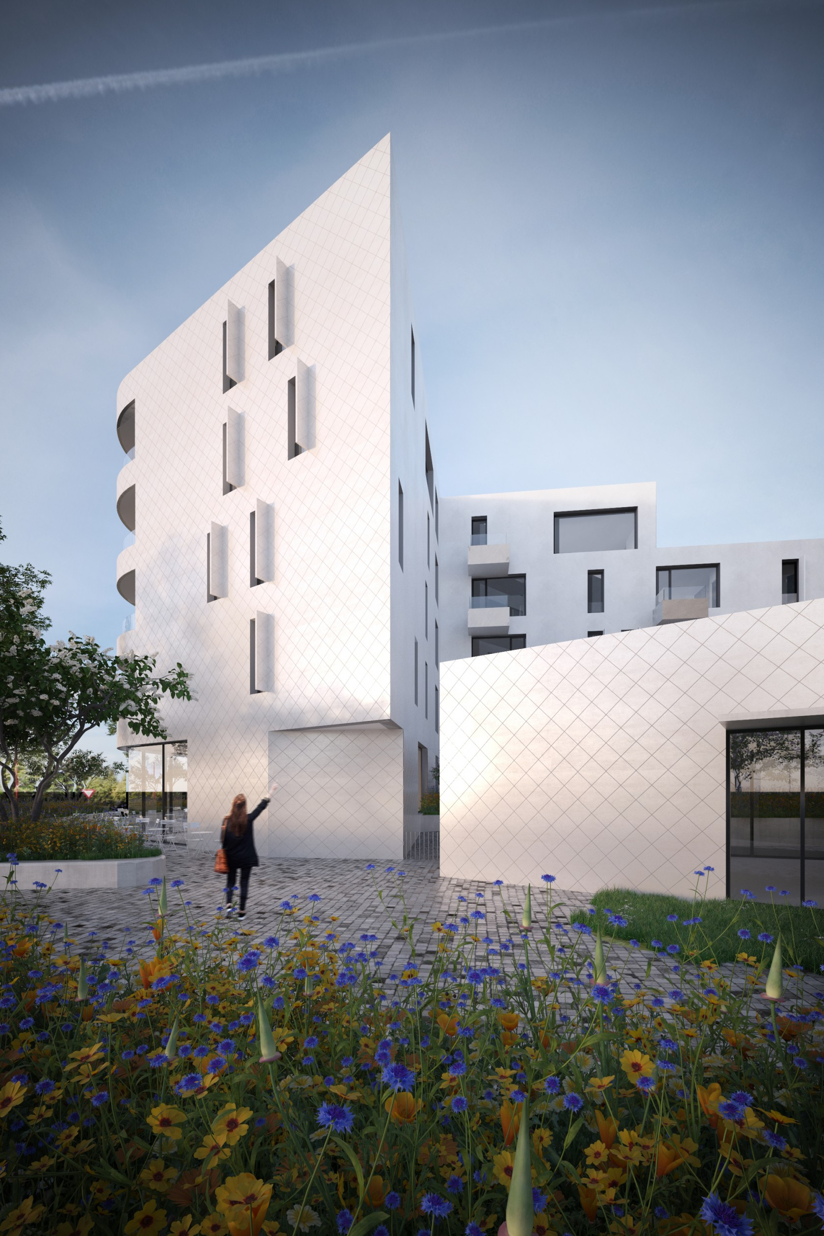 Abscis Architecten - inkom aan het Kongoplein - visual in progress - Abscis Architecten