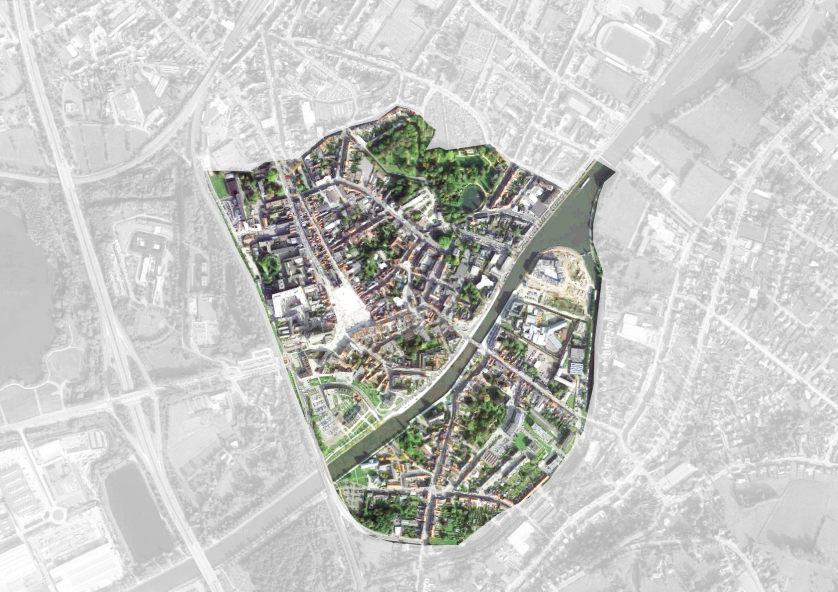 Abscis Architecten - location map City of Oudenaarde