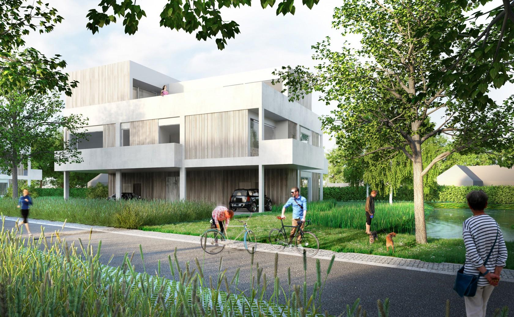 Abscis Architecten - urban villa in autoluwe omgeving - visualisatie Abscis Architecten