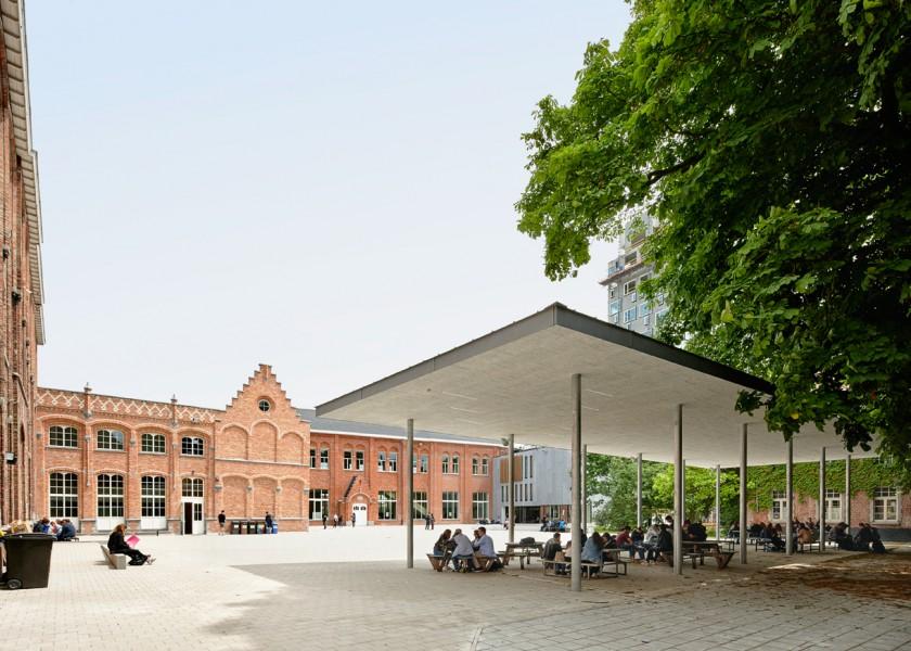 Abscis Architecten - Guldensporencollege Kortrijk - fotografie Dennis De Smet