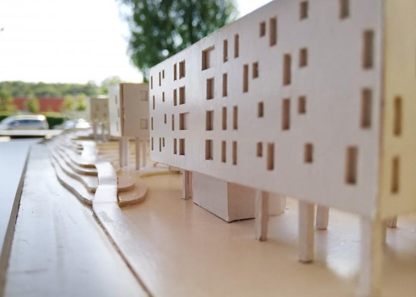 Abscis Architecten - maquette Klein Rijsel