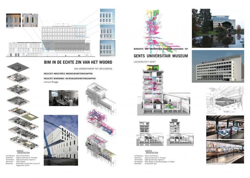 Abscis Architecten - affiches BIM-wedstrijd architect@work ABSCIS
