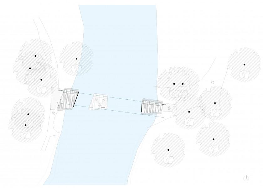 Abscis Architecten - overzicht voetgangersveer en oevers
