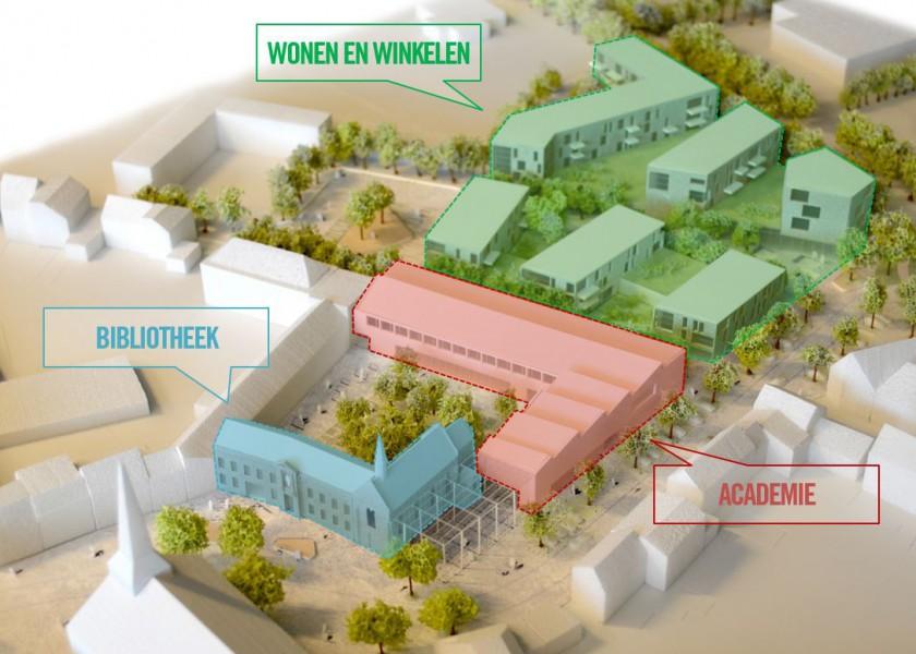 Abscis Architecten - maquette Hart van Hamme