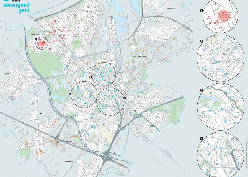 Abscis Architecten - Open Monumentendag 2020 - Steengoed Gent kaart