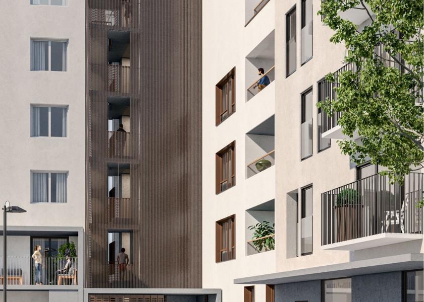 Abscis Architecten - In elke appartement wordt een aangename leefomgeving gecreëerd. FOTO: ARCHITENKO