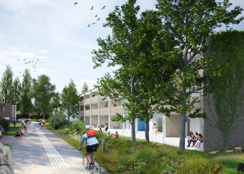 Abscis Architecten - preview nieuwbouw Acacialaan - visualisatie Abscis Architecten